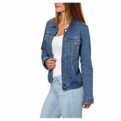 Calvin Klein Ladies Denim Jacket Moonlight Dusk Coats & Jackets