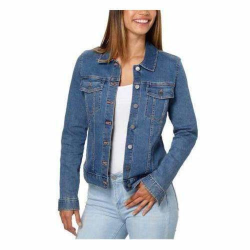 Calvin Klein Ladies Denim Jacket Moonlight Dusk L Coats & Jackets