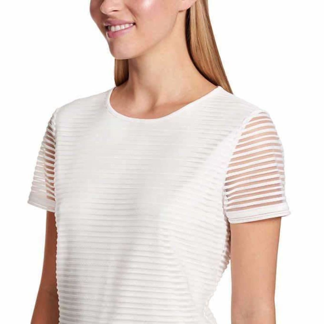 Calvin Klein Ladies Stretch Textured Tee Tops & Blouses