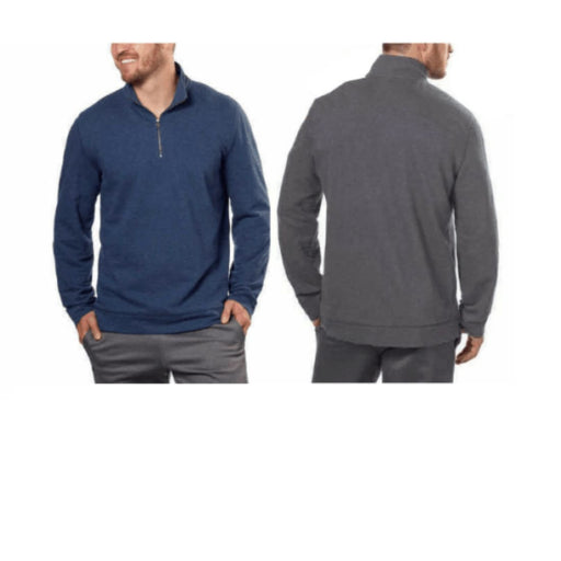 Calvin Klein Mens Mock Neck 1/4 Zip Pullover Casual Shirts
