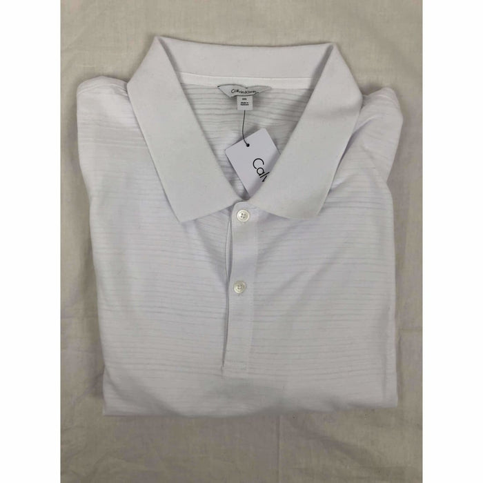 Calvin Klein Mens Short Sleeve Polo Xxl / Standard White Casual Shirts