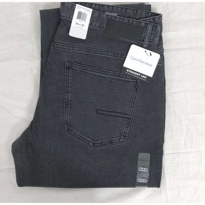 Calvin Klein Mens Straight Fit Jeans 40 X 30 / Axe Grey Jeans