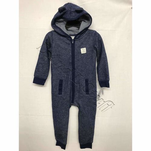 Carters Boys One Cute Little Cub Hooded Romper/sleeper 18M Sleepwear