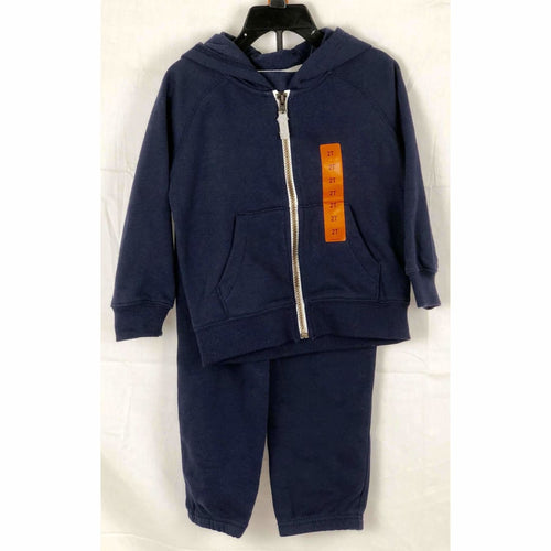 Carters Girls 2 Piece Full Zip Hoodie And Jogger 2T Athletic Apparel