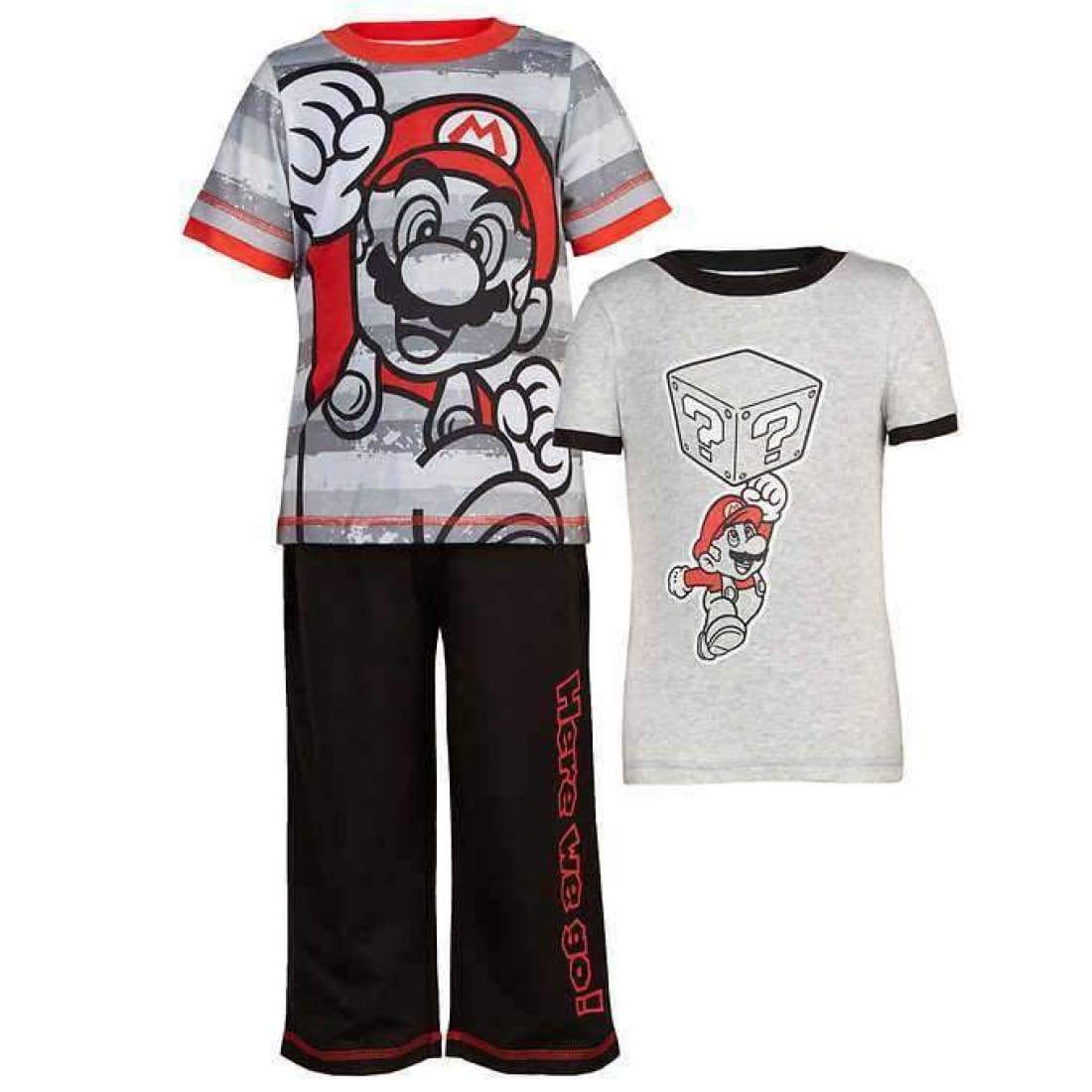 Character Boys 3-Piece Pajama Set 2T / Grey Sleepwear