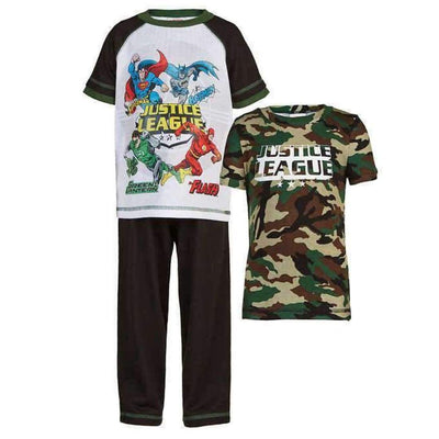 Character Boys 3-Piece Pajama Set 3T / Black Sleepwear