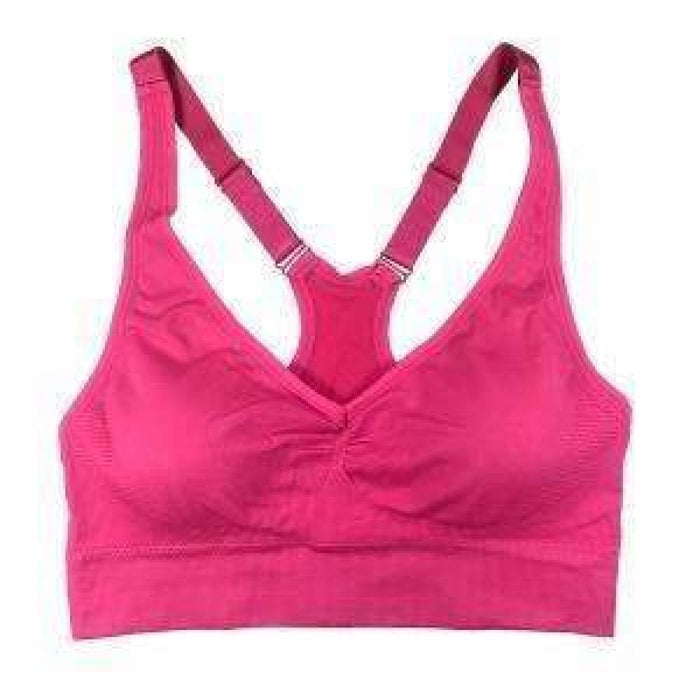 Coobie Womens Fusion Racerback Yoga Bra One Size / Hot Pink Bras & Bra Sets