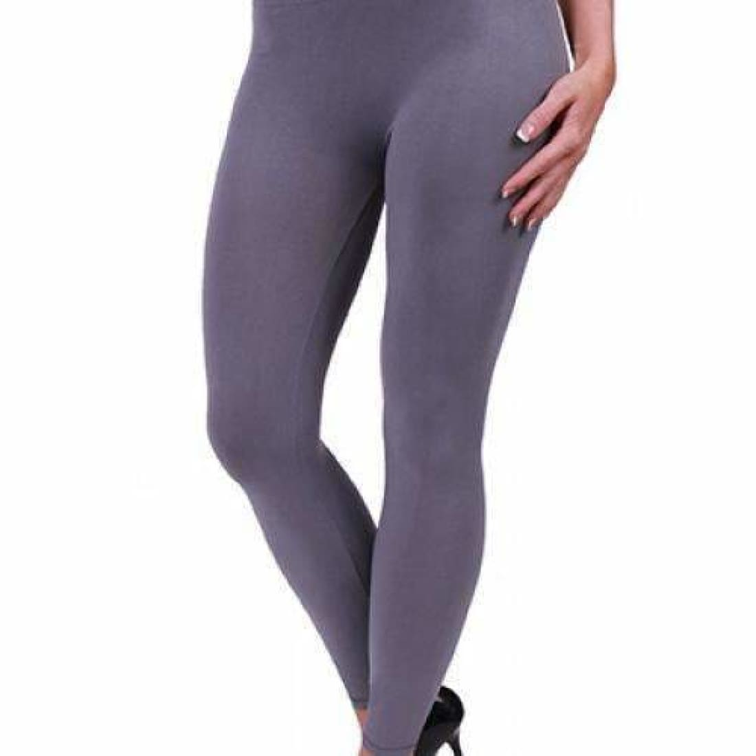 Coobie Womens Seamless Ankle Leggings Medium Grey / One (0-10) Leggings