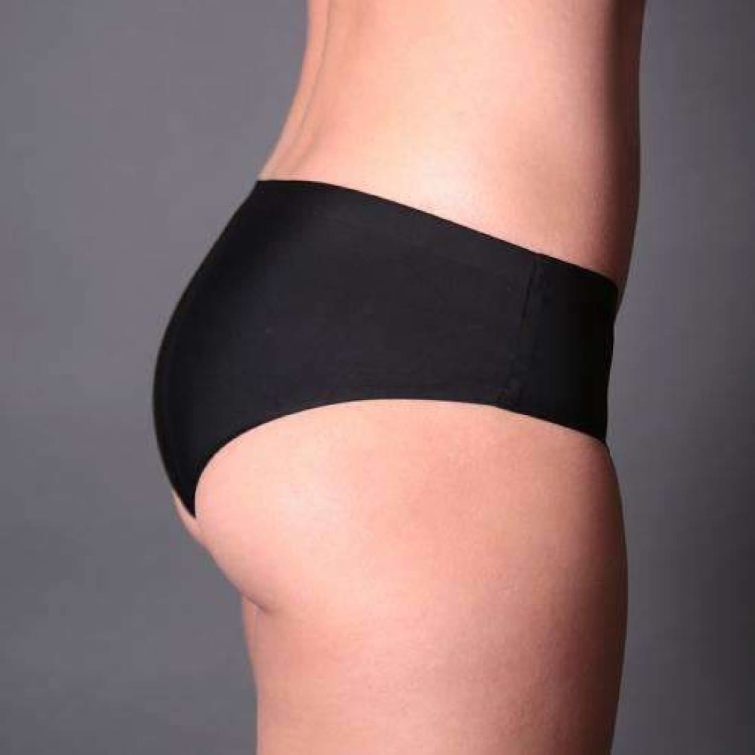 Coobie Womens Super Stretch Smooth Edge Bikini Panties One (0-6)-Black Panties