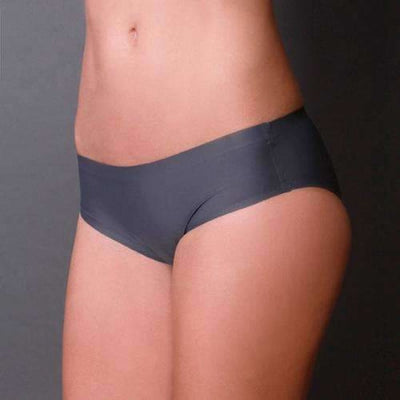 Coobie Womens Super Stretch Smooth Edge Bikini Panties One (0-6)-Charcoal Panties