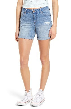 1822 Denim Ladies' Distressed Denim Roll Cuff Shorts
