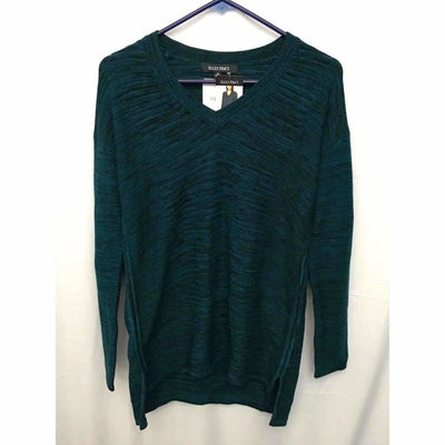 Ellen Tracy Womens V-Neck Ribbed Knit Pullover Sweater Sweaters