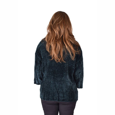 Ethyl Womens The Adley-Delphine Chenille Cardigan Green Sweaters