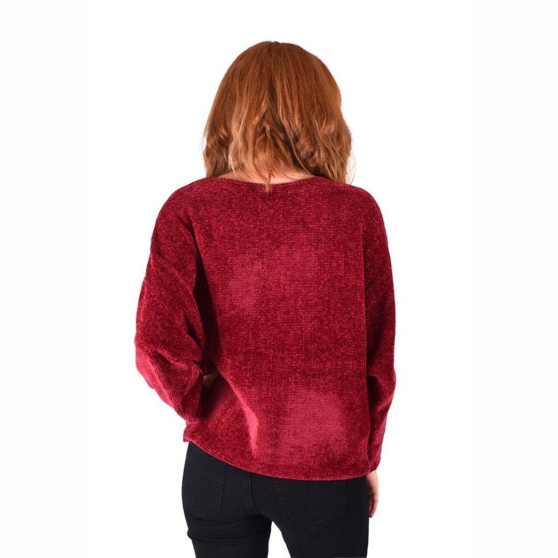 Ethyl Womens The Amari-Garland Chenille Boat Neck Sweater Sweaters