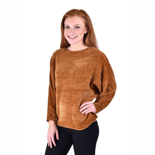 Ethyl Womens The Amari-Leilani Chenille Boat Neck Sweater M Sweaters