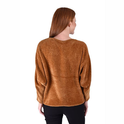 Ethyl Womens The Amari-Leilani Chenille Boat Neck Sweater Sweaters