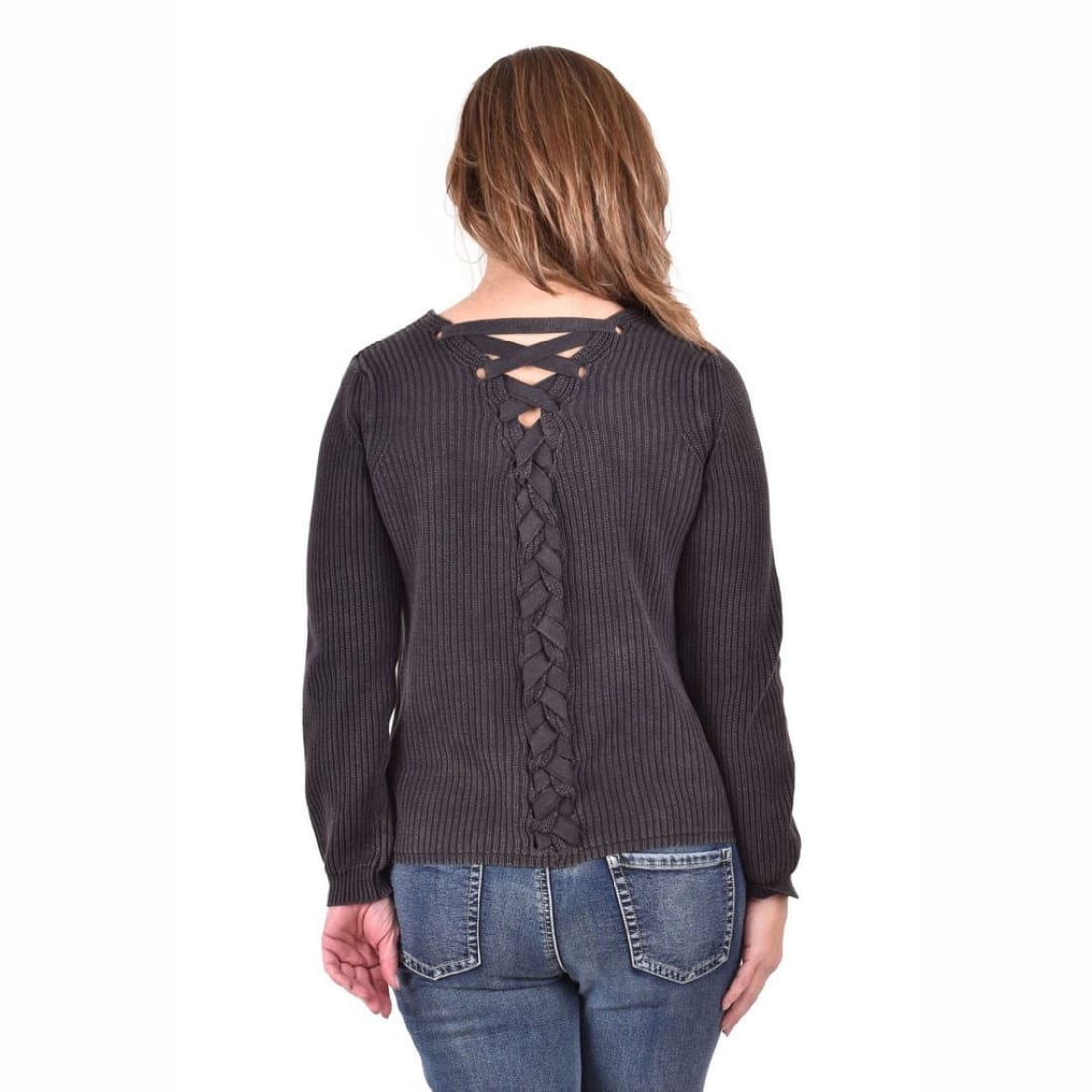 Ethyl Womens The Miah - Camellia Lace Back Sweater Sweaters