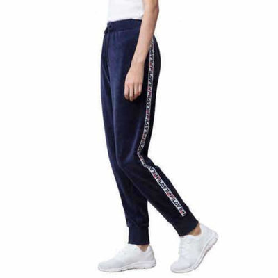 Fila Ladies Velour Jogger Pant M / Blue Athletic Apparel