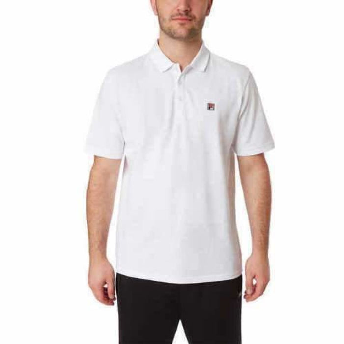 Fila Mens Pima Cotton Polo M / White Casual Shirts