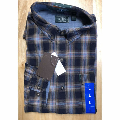 G. H. Bass Mens Fireside Light Weight Flannel Shirt M Regular / Night Sky Casual Shirts