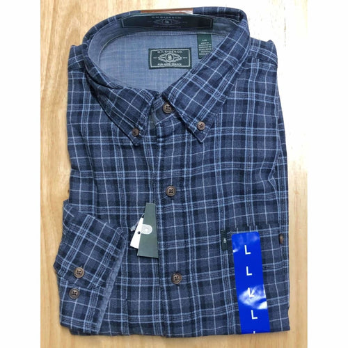 G. H. Bass Mens Fireside Light Weight Flannel Shirt M Regular / Sargasso Sea Ht Casual Shirts