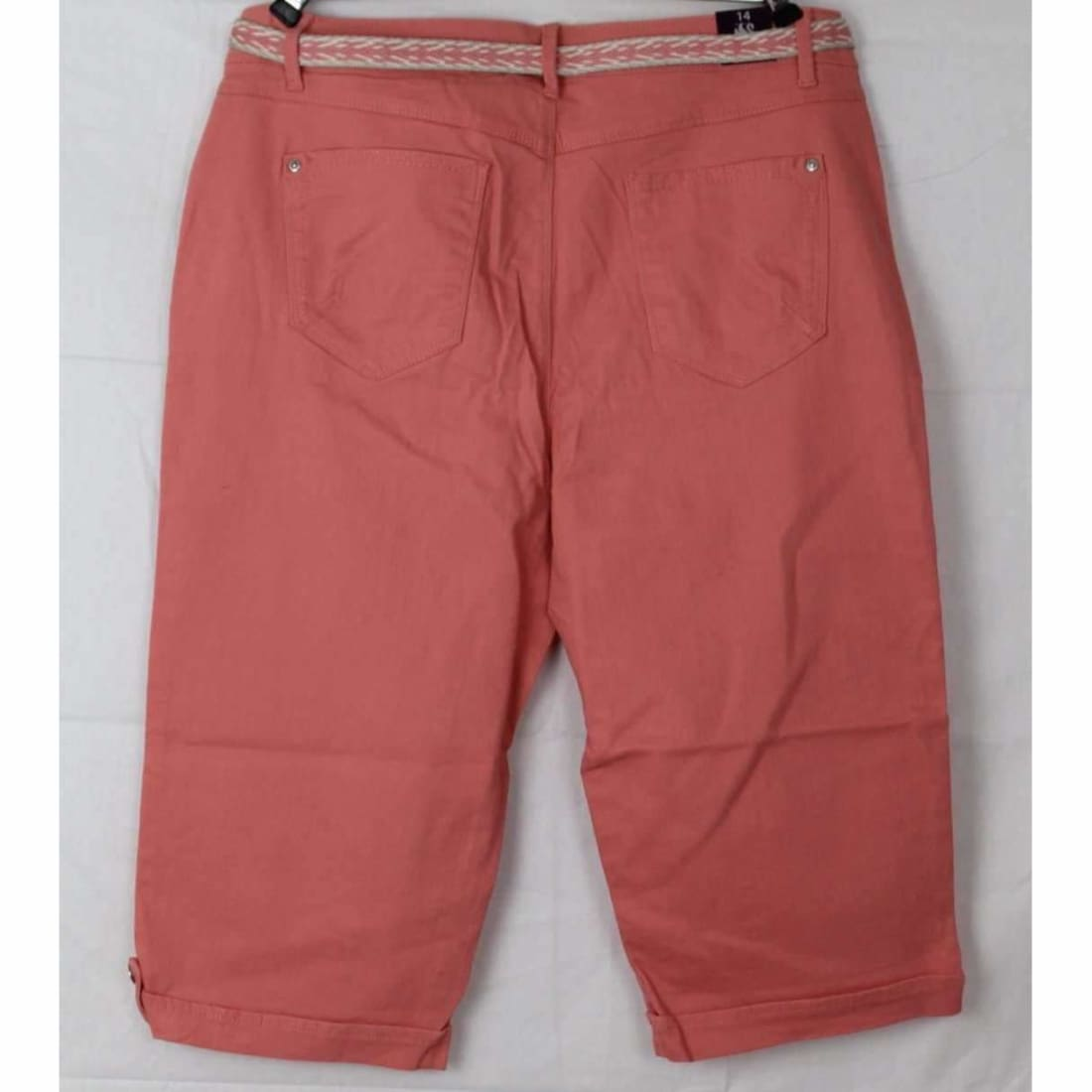 Gloria Vanderbilt Womens Belted Capri Lillian Skimmer Pants & Shorts