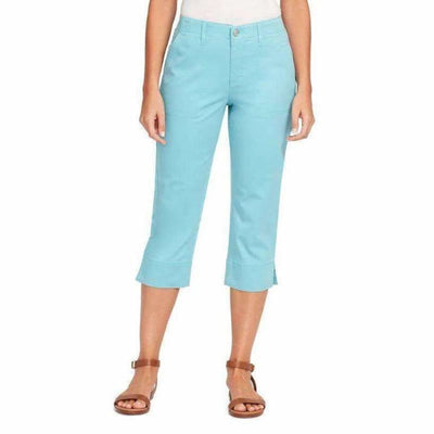 Gloria Vanderbilt Womens Rhea Capri 6 / Seaspray Pants