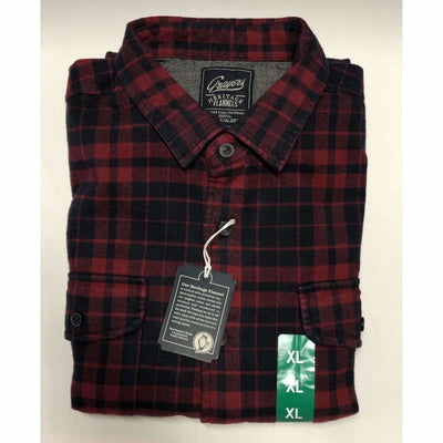 Grayers Mens Heritage Flannels 100% Cotton M / Red Plaid Casual Shirts