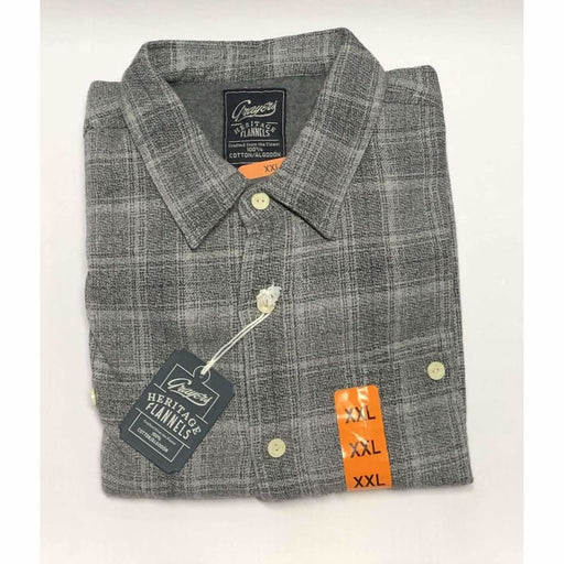 Grayers Mens Heritage Flannels 100% Cotton Xl / Grey Casual Shirts