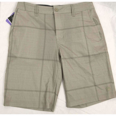 Hang Ten Mens Cruze Hybrid Casual Shorts 30 / Khaki Houndstooth Shorts