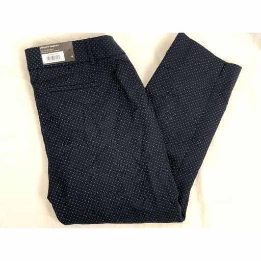 Hilary Radley Womens Cropped Stretch Pants 4 / Navy / Light Blue Pants & Shorts
