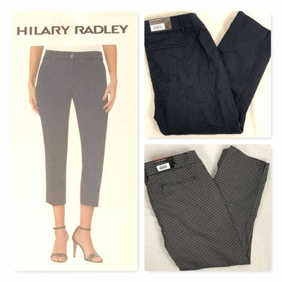 Hilary Radley Womens Cropped Stretch Pants Pants & Shorts