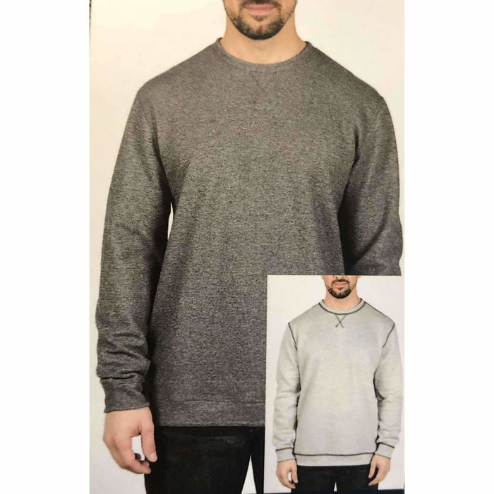 Island Sands Mens Reversible Crew Neck M / Charcoal/light Gray Casual Shirts