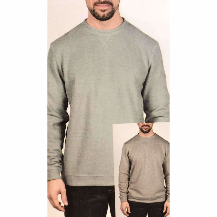 Island Sands Mens Reversible Crew Neck M / Sage/light Grey Casual Shirts