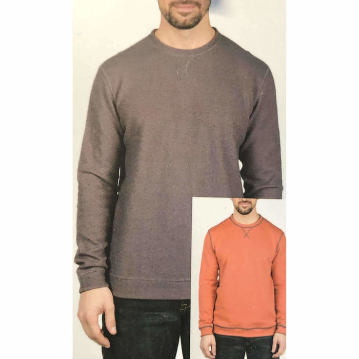 Island Sands Mens Reversible Crew Neck M / Sienna/coral Casual Shirts