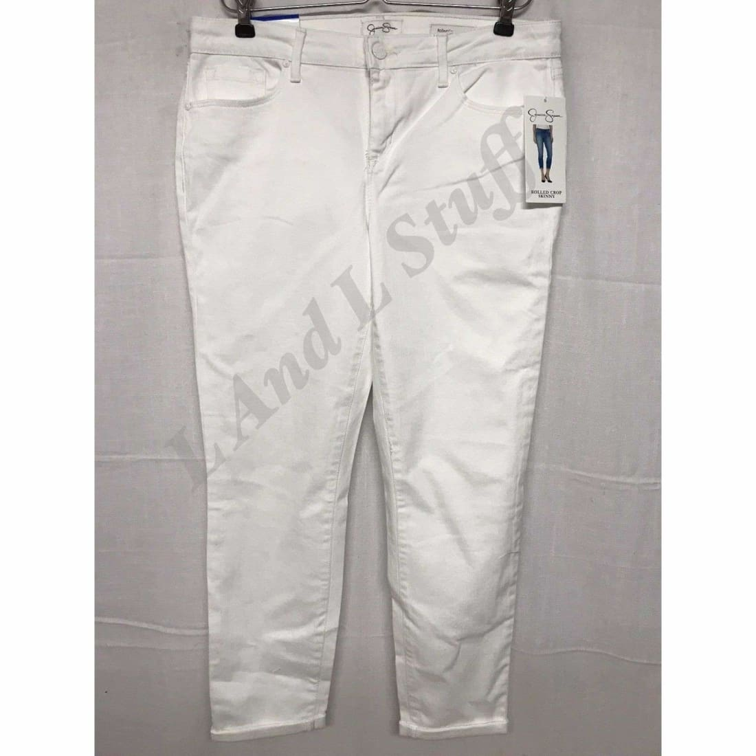 Jessica Simpson Rolled Crop Skinny Super Stretch Jeans Womens 6 / White Jeans