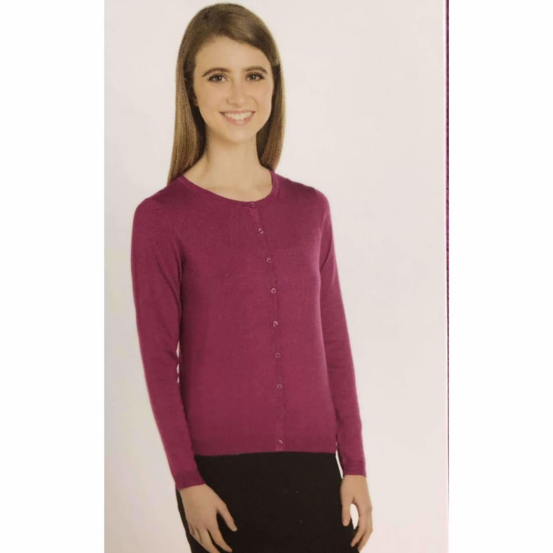 Joan Vass Womens Button Front Cardigan Sweater - Sweaters