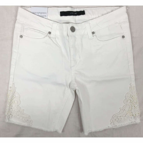 Joes Girls The Finn Mid Rise Bermuda Shorts Bright White 10 Pants