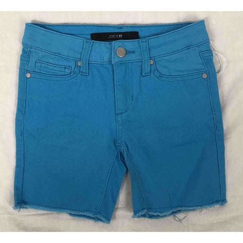 Joes Girls The Finn Mid Rise Bermuda Shorts Neon Blue 7 Pants