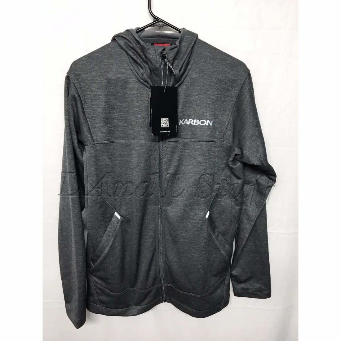 Karbon Fleece Full Zip Performance Hoodie Mens Regular / M / Gray Space Dye Sweats & Hoodies