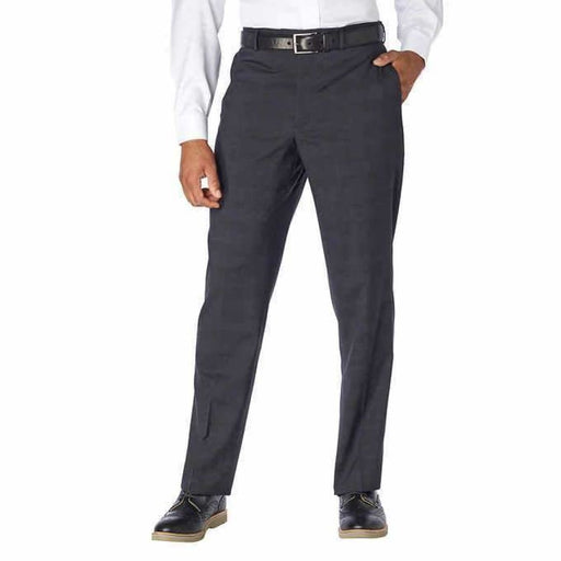 Kenneth Cole Mens Precision Fit Wool Bend Dress Trousers 36X30 / Charcoal Pants