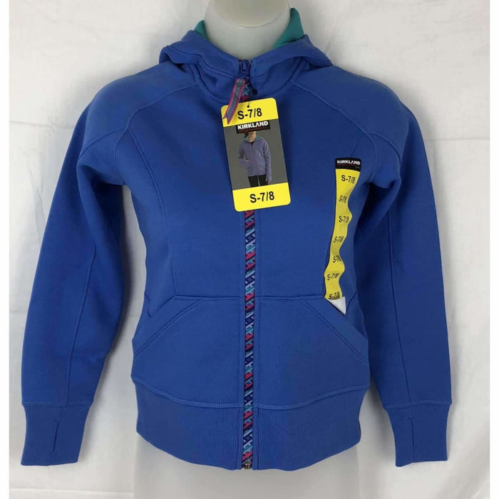 Kirkland Signature Girls Active Full Zip Hoodie S / Blue Coats & Jackets