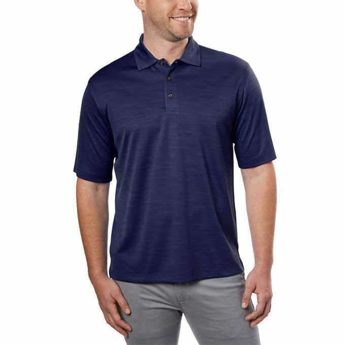 Kirkland Signature Mens Performance Polo L / Blue Casual Shirts