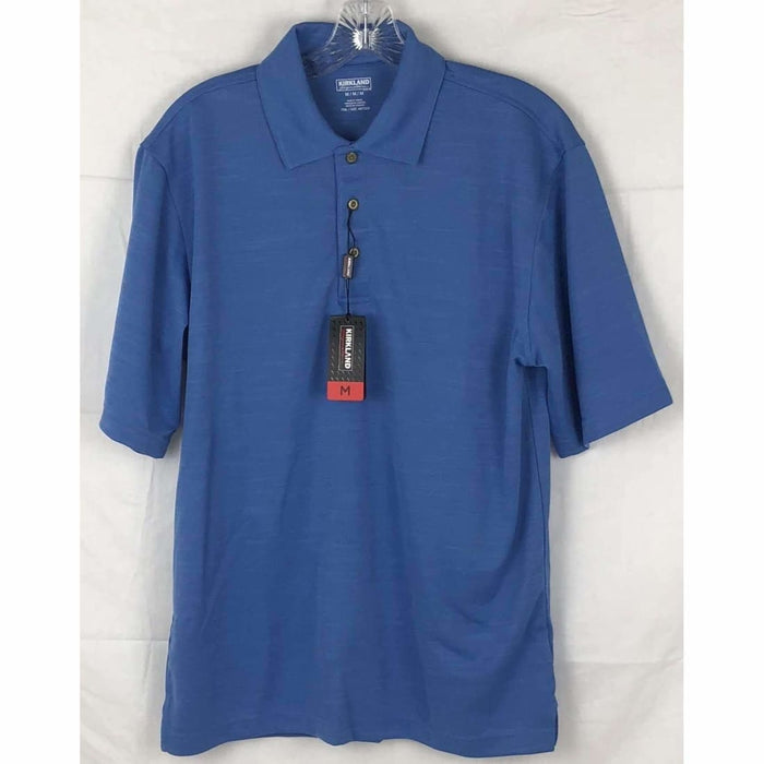 Kirkland Signature Mens Performance Polo M / Lt Blue Casual Shirts