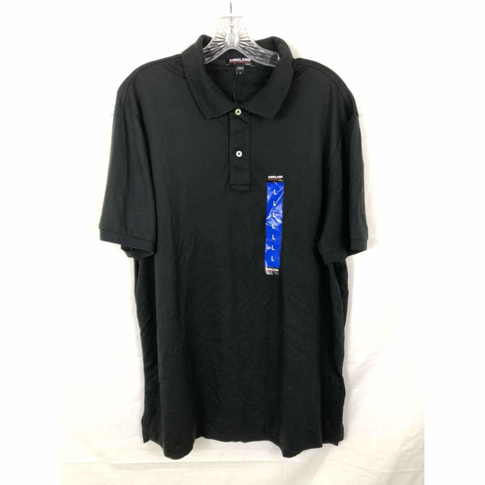 Kirkland Signature Mens Pima Cotton Polo L / Black Casual Shirts