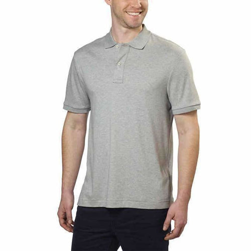Kirkland Signature Mens Pima Cotton Polo L / Grey Casual Shirts