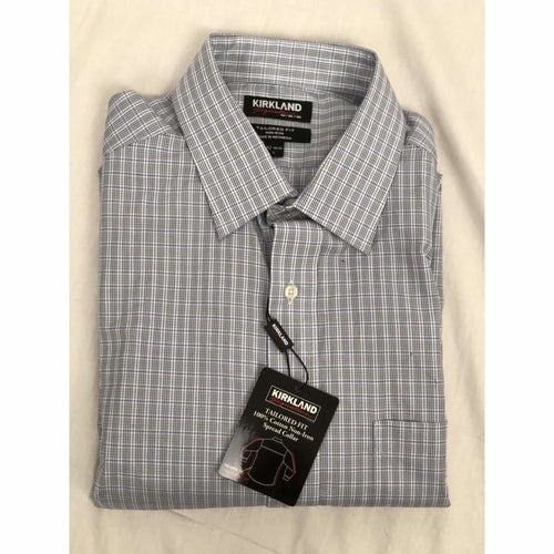 Kirkland Signature Mens Tailored Fit Non-Iron Dress Shirt 16 1/2-34/35 Dress Shirts