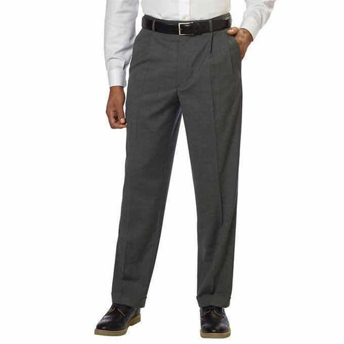 Kirkland Signature Mens Wool Pleated Dress Slack Pants