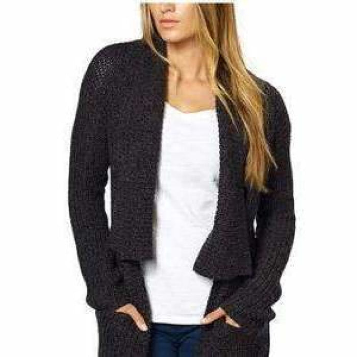 La Classe Couture Womens Shawl Collar Long Knit Cardigan Sweater Sweaters