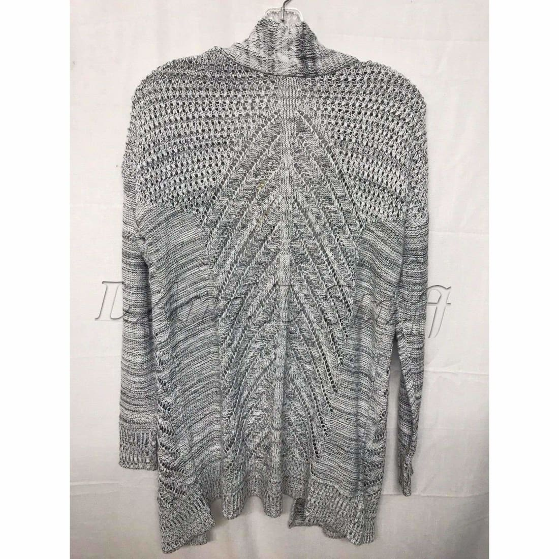 Leo & Nicole Pointelle Open Front Cardigan Womens Sweaters